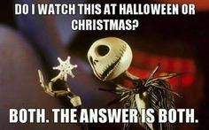 "Jack ""Nightmare Before Christmas"" - Do you watch for Halloween of Christmas?"