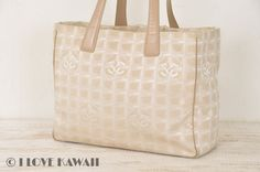 CHANEL Beige New Travel Line Tote Bag A15991