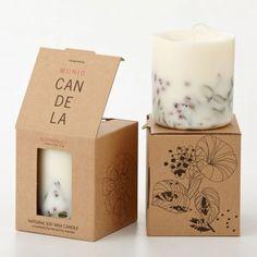 Munio Candela Kerze mit Vogel- & Heidelbeerblüten | design3000.de