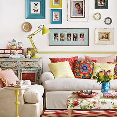 Boho chic living room | Living room decorating | Ideal Home | Housetohome.co.uk