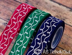 Shop our Designer Ribbon now @ www.thetrendyowl.com