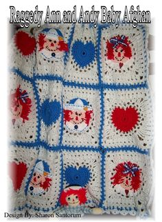 Raggedy Ann and Andy Crochet Baby Afghan or Blanket Pattern PDF. $5.99, via Etsy.