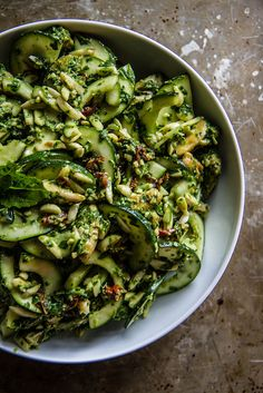 Healthy Summer Dinner Salad Recipe Idea: Chicken Zucchini Pesto Salad