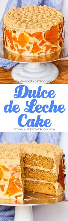 If you're a caramel lover, you're going to love this 'Dulce de Leche' cake! Three cans of dulce de leche are used in this recipe: one for the cake layers, one as a filling and one for the salted caramel buttercream! View Recipe Link