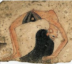 Ancient Yoga...Hieroglyphic of a woman doing yoga in Ancient Egypt some 10,000 years ago..