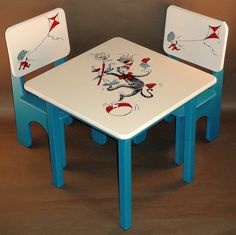 Dr. Seuss Classic Table and Chair Set for Kids. $280.00, via Etsy.