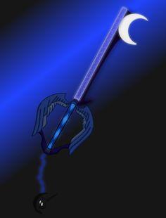 Night Fall (Luna Key blade) by aniamalman on DeviantArt Kingdom Hearts Keyblade, Disney Kingdom Hearts, Mlp My Little Pony, My Little Pony Friendship, Nightmare Moon, Little Poni, Disney Day, Princess Luna, Mlp Pony