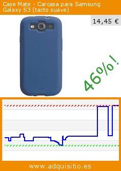 Case Mate - Carcasa para Samsung Galaxy S3 (tacto suave) (Accesorio teléfono inalámbrico). Baja 46%! Precio actual 14,45 €, el precio anterior fue de 26,95 €. http://www.adquisitio.es/case-mate/cmsmg3blu-funda-samsung