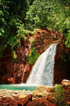 Waterfall in Guadeloupe, Caribbean