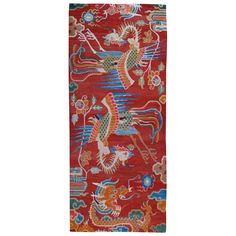 TIBETIAN DRAGON CARPETS | Antique Tibetan Dragon and Phoenix Carpet at 1stdibs