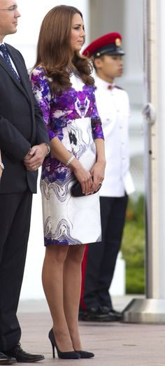 Kate - Prabal Gurung Floral Dress - Presidential Palace State Dinner - 11 Sep 2012