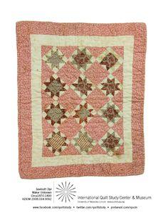 Sawtooth Star Doll Quilt, maker unknown, circa 1870-1890, IQSCM#2008.034.0092