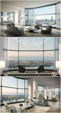 Here is a selection of the most Luxury Penthouses in the world! Futuristic design to inspire everyone! dream house luxury home house rooms bedroom furniture home bathroom home modern homes interior penthouse New York Penthouse, Luxury Penthouse, Penthouse Apartment, Apartment Interior, Luxury Condo, Appartement New York, Futuristisches Design, Design Ideas, Futuristic Design