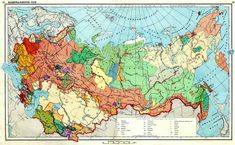 Ethnographic map of the USSR