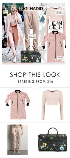 """""""Steal Her Style-Gigi Hadid"""" by kusja ❤ liked on Polyvore featuring daniel patrick, Stealherstyle, celebstyle and gigihadid"""