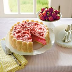 Parlor-Perfect Ice-Cream Cakes and Pies | Strawberry Semifreddo Shortcake | SouthernLiving.com