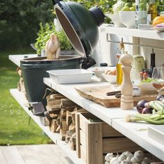 Outdoor Kitchen Ideas on a Budget (Affordable, Small, and DIY Outdoor Kitchen Id. - Outdoor Kitchen Ideas on a Budget (Affordable, Small, and DIY Outdoor Kitchen Ideas) – outdoor k - Diy Outdoor Kitchen, Kitchen On A Budget, Outdoor Cooking, Outdoor Rooms, Outdoor Dining, Outdoor Gardens, Outdoor Kitchens, Kitchen Ideas, Big Green Egg Outdoor Kitchen
