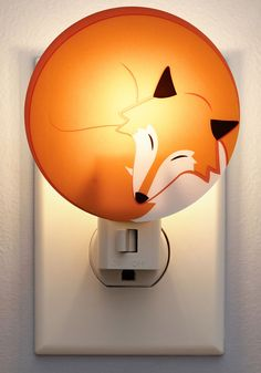 Sly Little Slumberer Night Light. Shine a little light on your slumber space in true woodland-inspired style with this adorable little fox night light by Kikkerland!