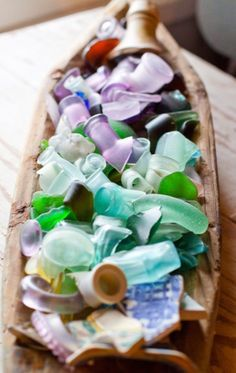 Sea Glass Collection:  photograph by Chaz Winkler