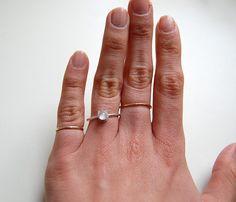{Moonstone Cat Ring} giantLION - super sweet little silver kitty ring :)