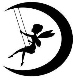 Galerie anzeigen für Fairy On Moon Silhouette ClipArt Best ClipArt Best anz… Moon Silhouette, Fairy Silhouette, Silhouette Clip Art, Silhouette Projects, Silhouette Images, Peter Pan Silhouette, Silhouette Machine, Fairy Lanterns, Fairy Jars