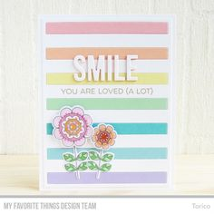 Doodled Blooms Stamp Set and Die-namics, Bold Stripes Cover-Up Die-namics, Words for Friends Die-namics, More Essential Sentiments Stamp Set - Torico  #mftstamps