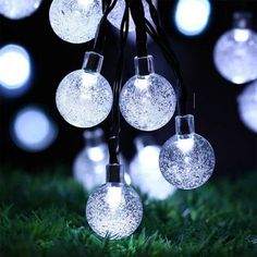 FAMILOVE Christmas Trees Halloween Day Blossom Flower Solar Powered 20ft 30 LED Waterproof Fairy Lighting for Garden Patio Wedding Party Holiday Decorations(White) -- Awesome product. Click the image : Wedding Decor
