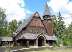 Holzkirche auf dem Stahnsdorfer Friedhof