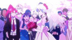Simon and Nia's Wedding Lagann Gurren, Romantic Couples, Fiction, Neon, Anime Stuff, Anime Girls, Gifs, Gaming, Calm