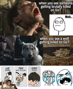 true. #GameOfThrones. Still get chills when Robb's wolf dies...that sound of his cries...