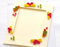 Quilled Card Paper Quilling Quilled Photo Frame by PaperSimplicity