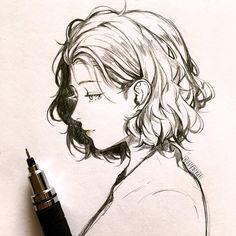 "10.2 mil curtidas, 51 comentários - ず | ZU (@clivenzu) no Instagram: """"Serene"" - 2016 art. side: @clivenzu.acc tools: @starzuu _ #sketch #illustration #pencildrawing…"""