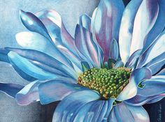 Blue Painting by Angela Armano - Blue Fine Art Prints and Posters for Sale