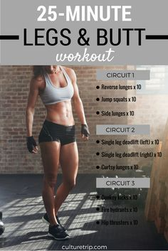 25 Min Legs & Butt workout by the Culture Trip