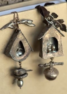 Birdhouse pendants by PMC artist Christi Anderson.  Check out her ETSY site, cassioppea.