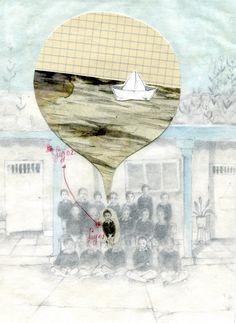 Premio Tragaluz de ilustración ,2013. by Elizabeth Builes, via Behance Picture Story Books, Book Illustration, Art Illustrations, Poesia Visual, Zine, Childrens Books, Doodles, Mix Media, Inspiration