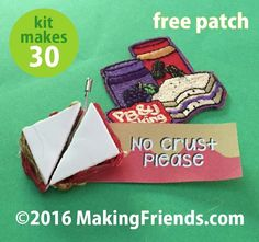 "Girl Scout Swaps Craft Kit ""Peanut Butter & Jelly"" with Free Patch!"