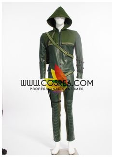 Costume Detail Arrow Oliver Queen Cosplay Costume Set Includes: Top, Pants, Belt, Quiver, Gloves, Hood Please see individual tabs for information including: -available sizes for this costume -availabl