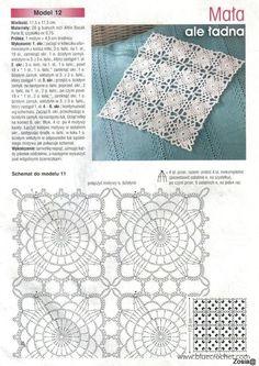 This Would Make A Beautiful Bi-Colored M - maallure Crochet Tablecloth Pattern, Crochet Motif Patterns, Granny Square Crochet Pattern, Crochet Squares, Crochet Doilies, Knitting Patterns, Thread Crochet, Crochet Stitches, Granny Square Häkelanleitung