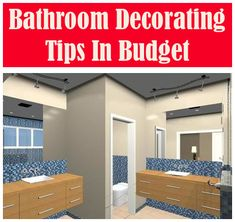 Decorating Tips for the Bathroom Bathroom Makeovers On A Budget, Leaky Faucet, Ideal Bathrooms, Modern Sink, Glass Sink, Knobs And Handles, Photo Link, Decorating On A Budget, Granite