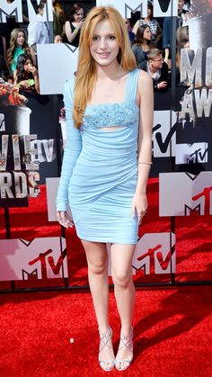 MTV Movie Awards 2014 Red Carpet - Bella Thorne from #InStyle.  Bella Thorne in Versace.