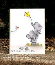 Birdie Brown Adorable Elephants stamp set - Heidi Shafer #mftstamps