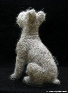 Felted wool sculptures