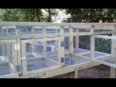 Building rabbit + chicken cage. Part 5 - YouTube
