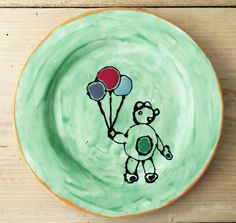 Great work on this plate, love the 'Bankys' inspired artwork.  www.busybrushcafe.co.uk