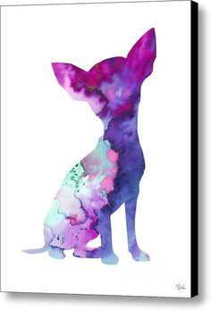 Chihuahua 7 Canvas Print / Canvas Art By Luke And Slavi