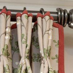 Jane Churchill Embroidered linen with contrast trim on a Bradley Collection Pole www.melaniedowning.co.uk