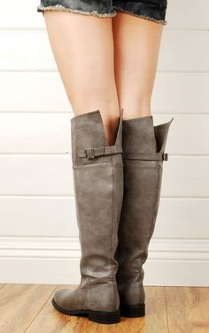 This site has some really affordable cute boots! Just bought these over the knee boots in Stone. We'll see how they turn out!