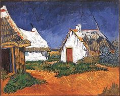 Three White Cottages In Saintes-maries by Vincent Van Gogh Handmade oil painting reproduction on canvas for sale,We can offer Framed art,Wall Art,Gallery Wrap and Stretched Canvas,Choose from multiple sizes and frames at discount price. Vincent Van Gogh, Desenhos Van Gogh, Van Gogh Arte, Van Gogh Pinturas, Sainte Marie, Van Gogh Paintings, Watercolor Paintings, Pics Art, Art Van