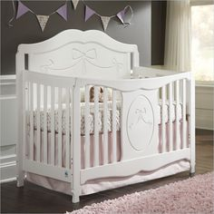 Storkcraft Princess Fixed Side Convertible Crib in White - 04587-151  www.cymax.com